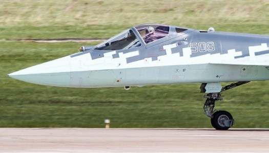 The upper and lower 101KS-O DIRCM bubbles can be seen in this image. Not all T-50s/Su-57s have been equipped with this system yet, but it is a core feature of the design.