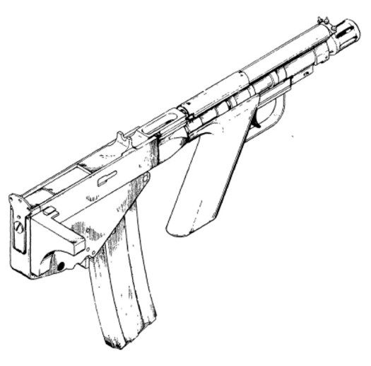 A drawing showing an early prototype of the GUU-4/P