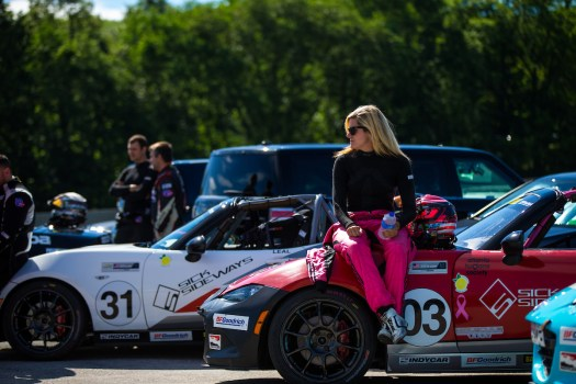 Ashton Harrison, the only female driver of the MX-5 Cup.