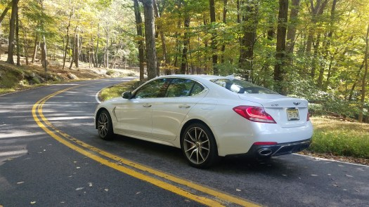 365-hp G70 3.3T takes curves in New York's Harriman State Park