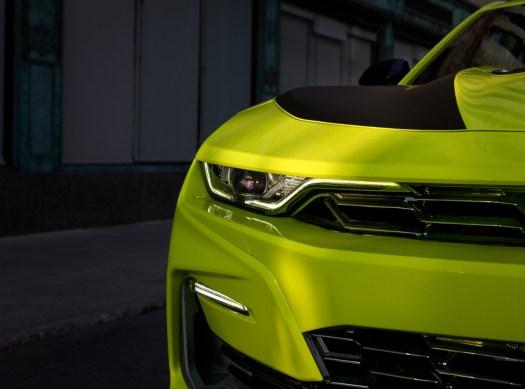 2019 Shock Yellow Chevrolet Camaro SS Headlight