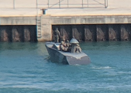A short of one of the stealthy boats showing what appears to be a slightly different mold line from the Navy's CCA Mk. 1s.