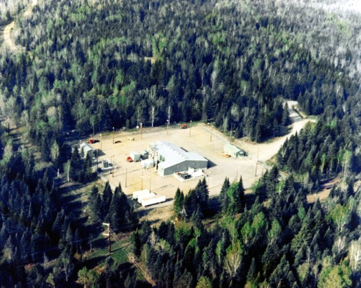 A picture of the main building at the U.S. Navy's Clam Lake ELF transmitter facility in 1982.