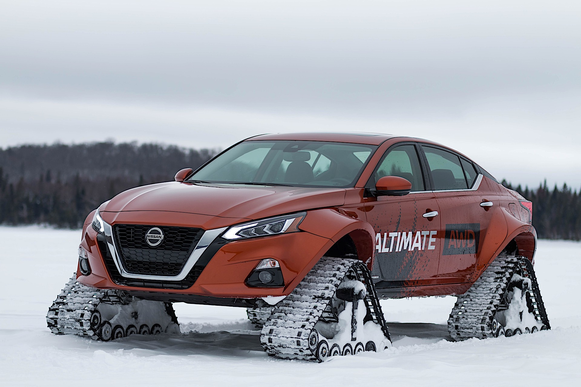 Nissan Gives Into Snow Track Addiction Once Again Builds