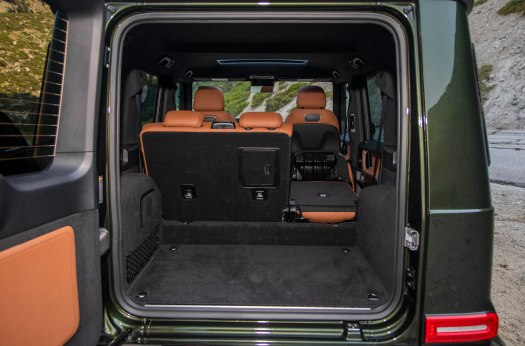Raised second row means no flat load floor with seats folded