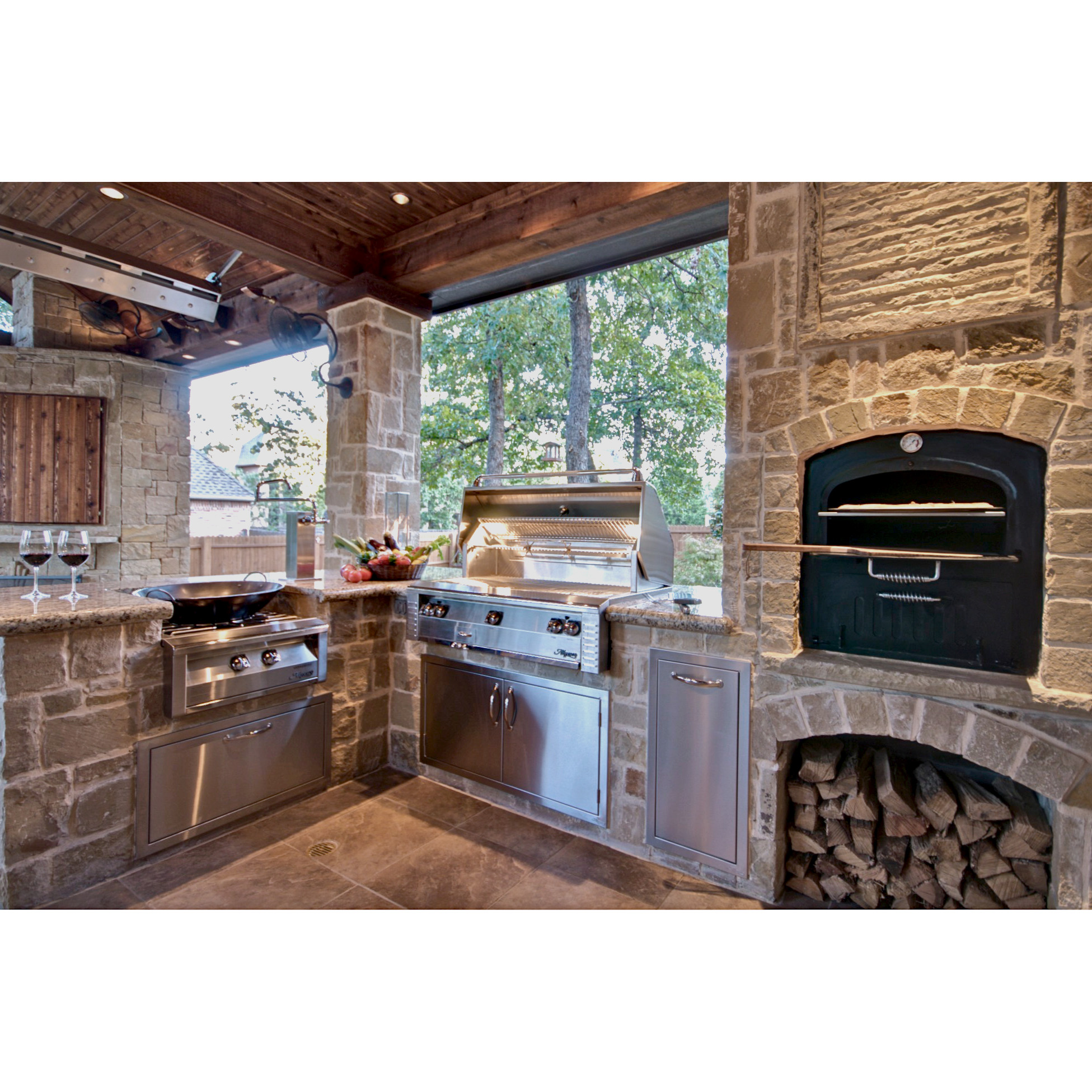 Alfresco 42-in. Built-in Gas Grill With Sear Zone and ... on Built In Grill Backyard id=91875