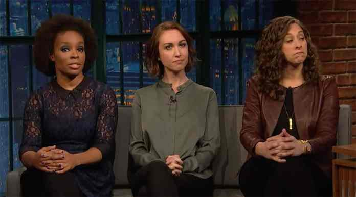 ruffin hagel hord late night seth meyers harvey weinstein