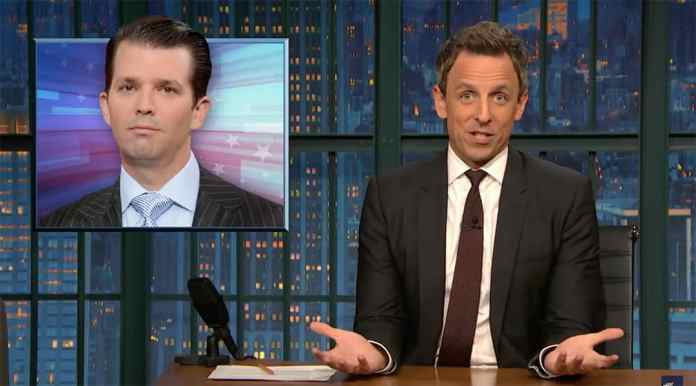 lanx meyers donald trump jr colbert kimmel late night show