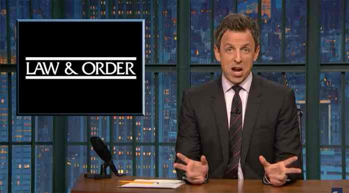 lanx seth meyers crime law and order trump