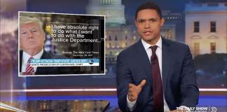 trevor noah daily show donald trump justice department