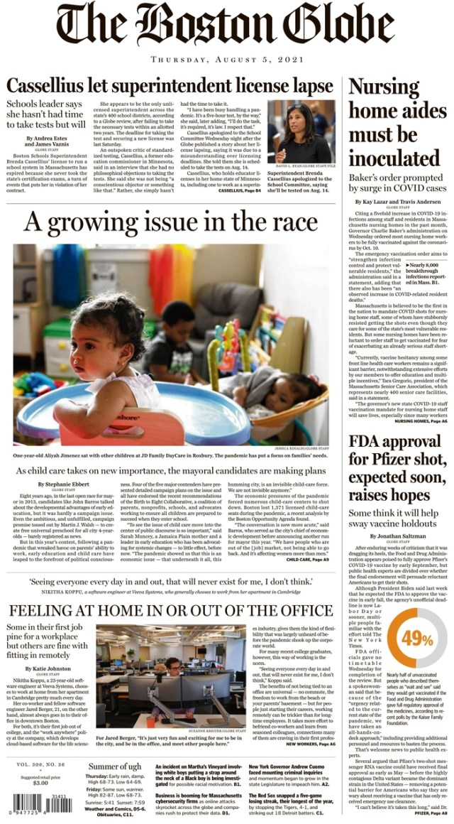 Go For Broke Day's Front Pages, Wednesday, April 5