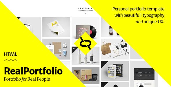 RealPortfolio – Personal Portfolio Template
