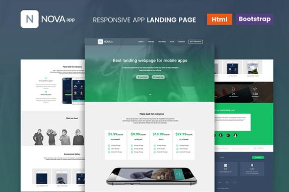 Nova – Responsive App Landing Page