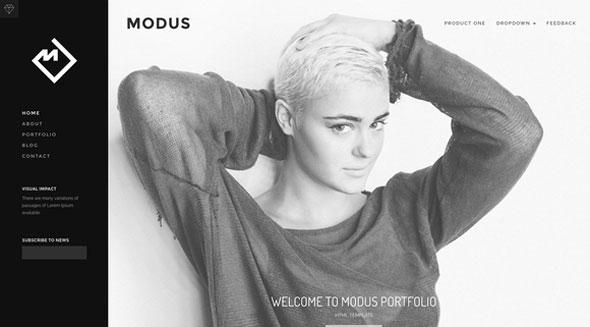 Modus – HTML Portfolio template
