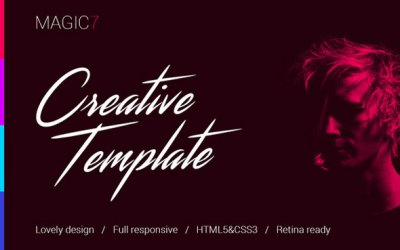 Magic7 – Creative HTML Template