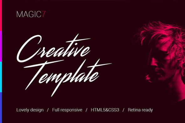 Magic7 – Creative HTML Template