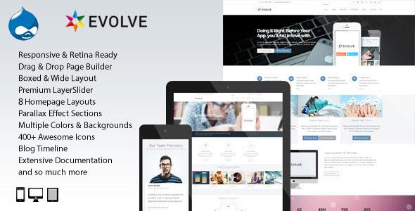 Evolve – MultiPurpose Creative Drupal Theme