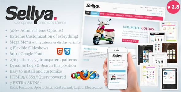 SELLYA V2.8 – RESPONSIVE WOOCOMMERCE THEME