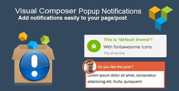 VISUAL COMPOSER POPUP NOTIFICATIONS V1.2.2