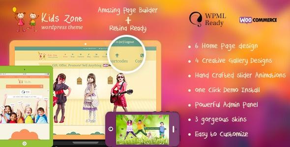 KIDS ZONE V3.4.0 – CHILDREN & KIDS WORDPRESS THEME