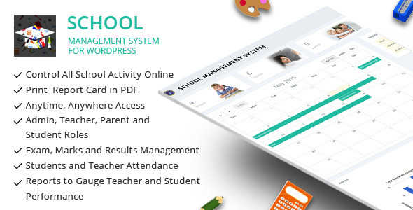 SCHOOL MANAGEMENT SYSTEM FOR WORDPRESS V31