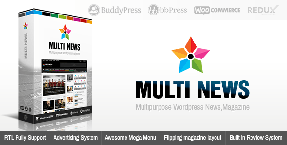 Multinews 2.5.5.1 – Multi-purpose WordPress News,Magazine