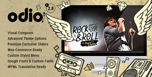 ODIO V2.8 – MUSIC WP THEME FOR BANDS CLUBS AND MUSICIANS