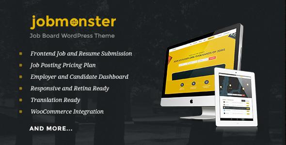 Jobmonster 4.1 – Job Board WordPress Theme
