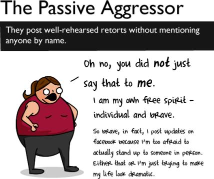 aggressor - Etiqueta no Facebook