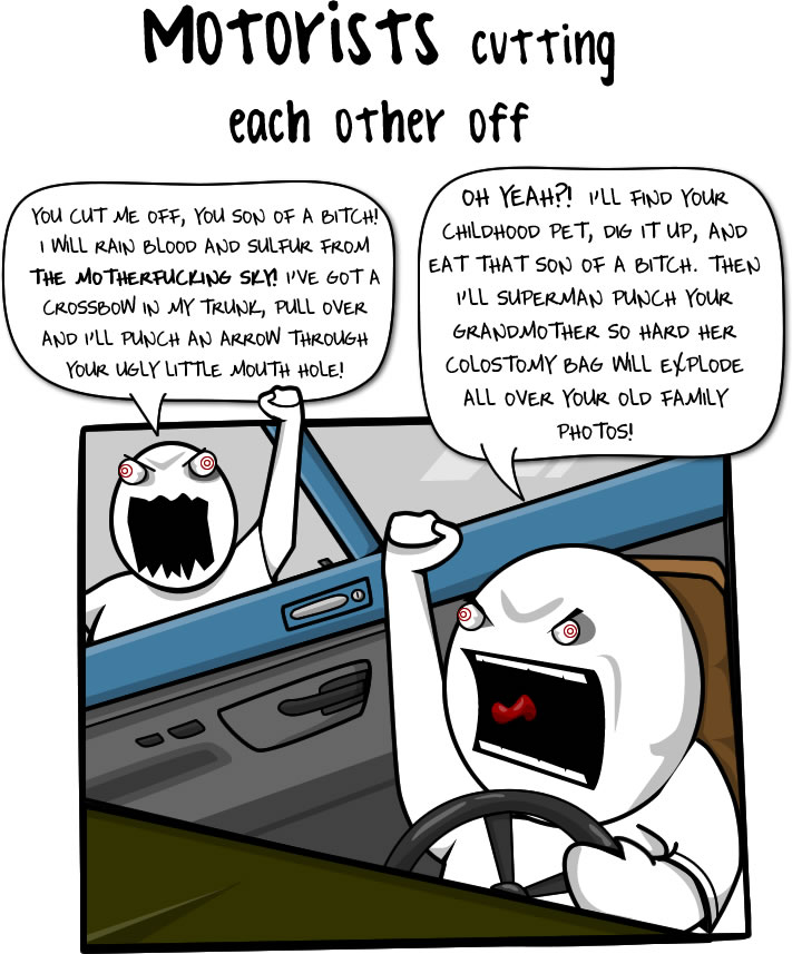 Image result for the oatmeal walking vs driving