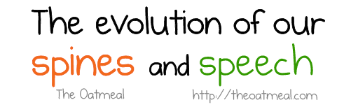 The evolution of our spines and speech