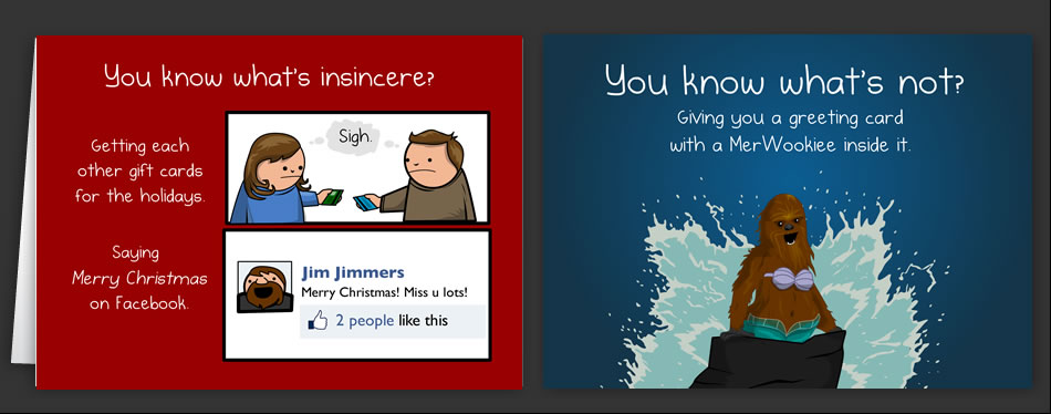 Horrible Cards Holiday Cards By The Oatmeal