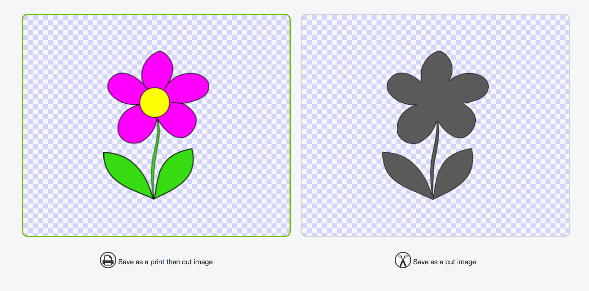 Showing flower image in Cricut Design Space