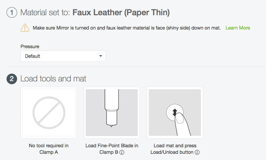 "Set your Cricut to ""faux leather"" to cut faux leather on your Cricut"
