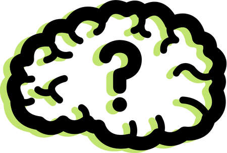 Illustration of a question mark in a brain