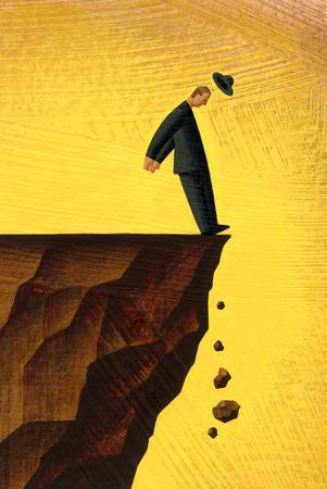 Man Falling Illustration