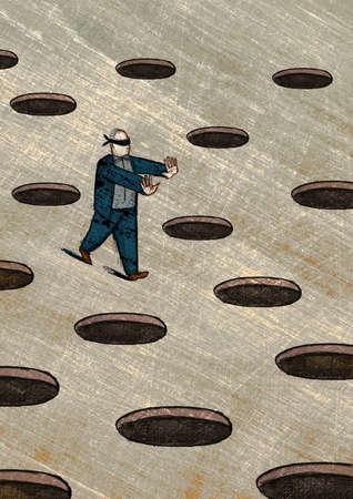 Image result for walking blindfolded