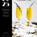 Restaurant Minimal New Year Poster Template