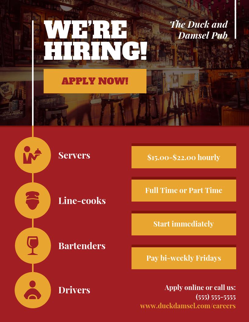 hiring business flyer template