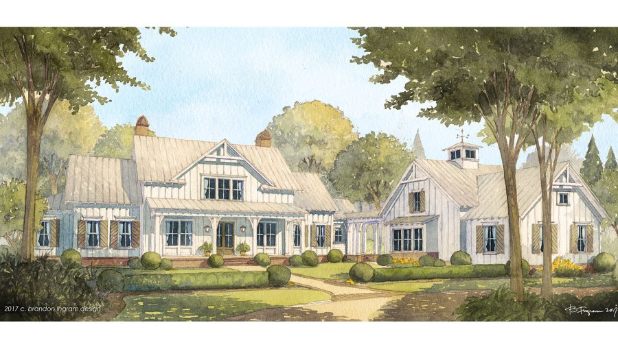 Modern Farmhouse Designs House Plans   Southern Living House Plans Sl 1954 fcr