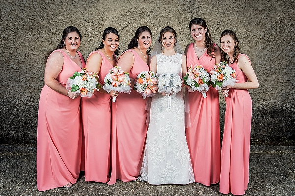 Classic Coral And White Williamsburg Wedding Tidewater