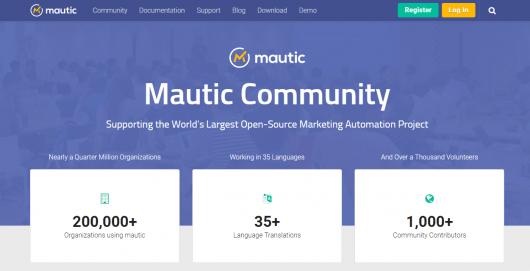 Mautic website