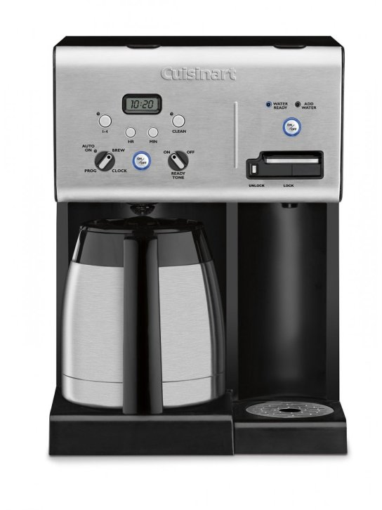 Fully automatic with 24-hour programmability, self-clean, 1-4 cup setting, ready tone on/off and auto-shutoff Brew pause feature Provides hot water on demand for tea, soup, hot cocoa and more 56-Ounce water reservoir Convenient water ready and add water indicators