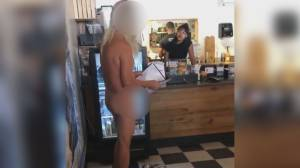 Man gets naked inside Kelowna restaurant