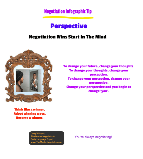 Negotiation Infographic Tip  Perspective