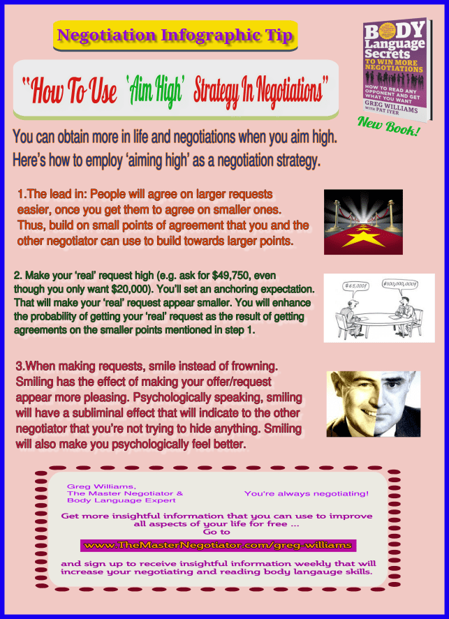 How To Use Aim High Strategy In Negotiations