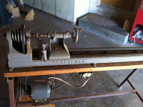 Old Craftsman Two Rail Wood Lathe Vintage By Navtalk Woodworking