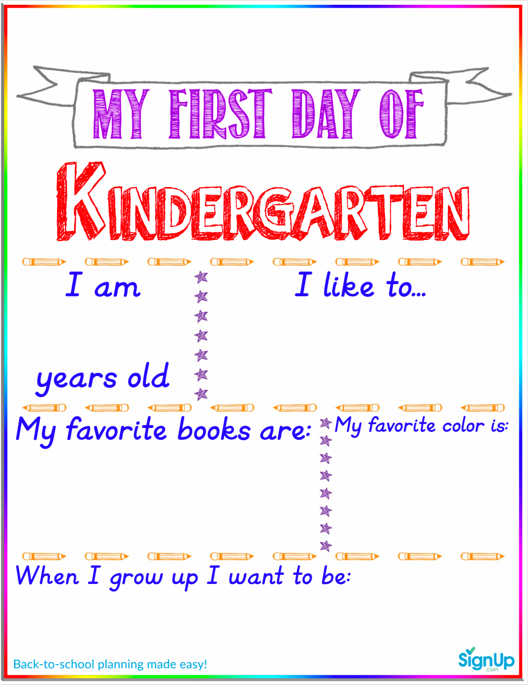 The Must Have Back To School Printable For The First Day