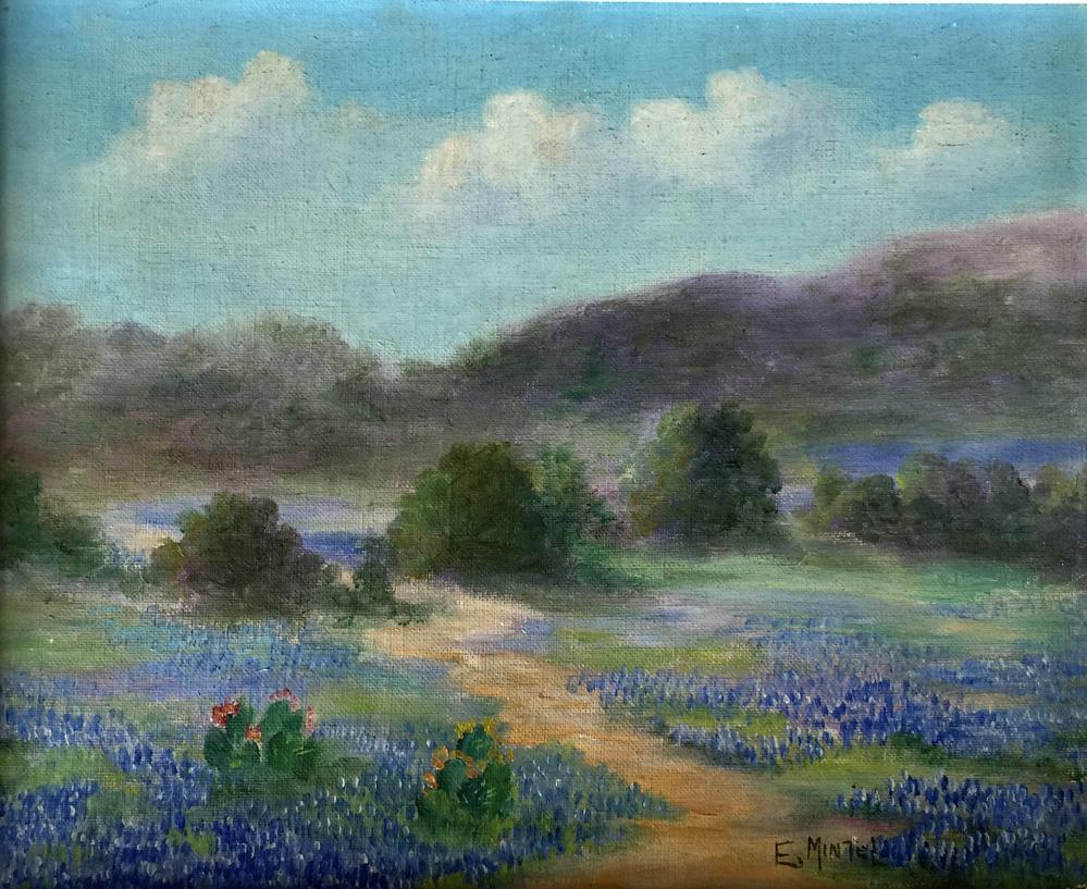 Edwina Mintel Bluebonnet 987 Texas Art Vintage