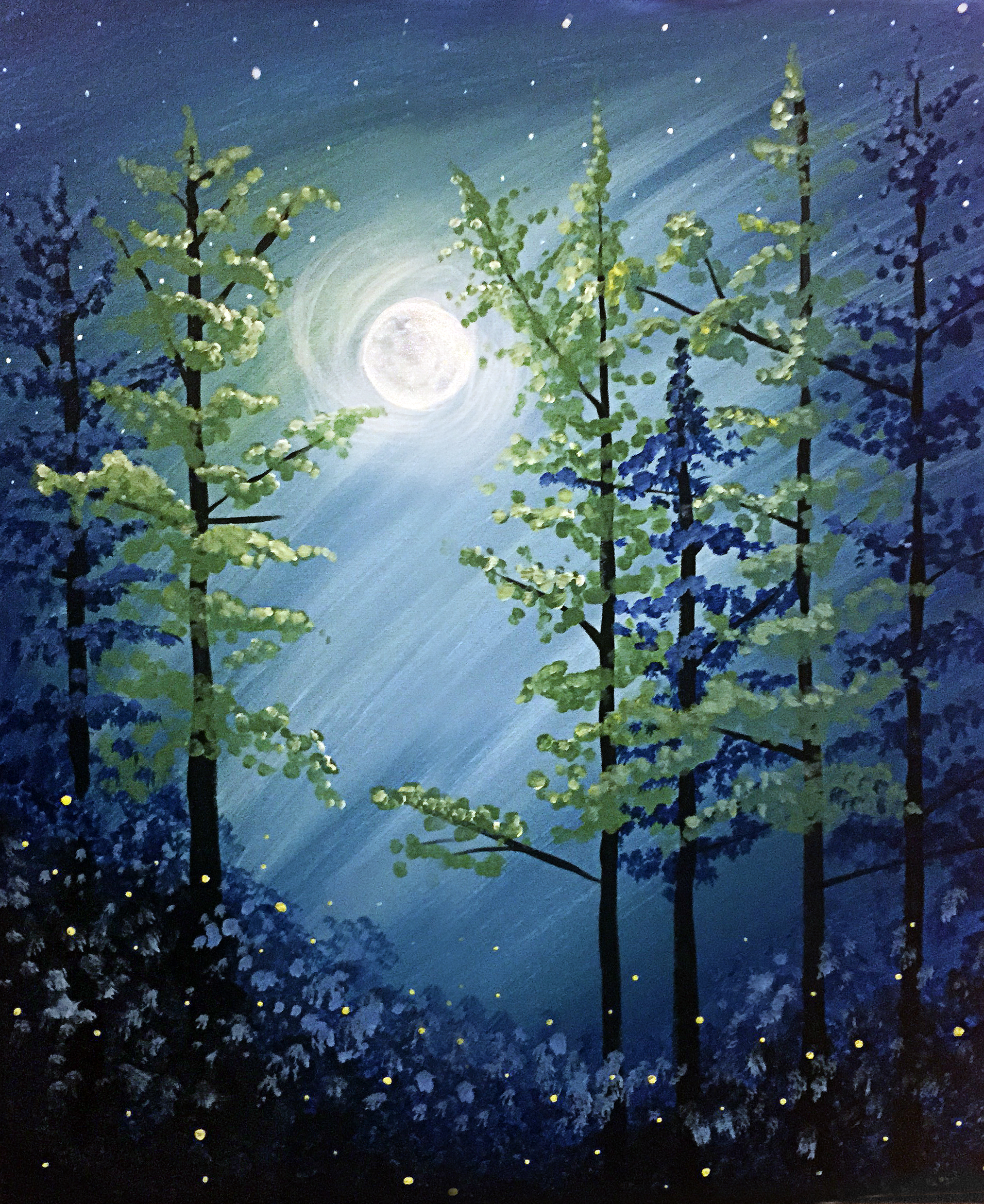 Midnight Forest Paint Nite Fundraiser DelmarvaLife